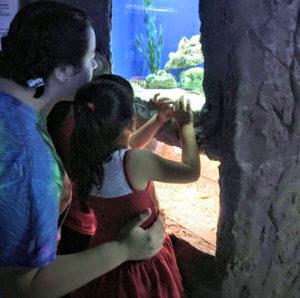 sofia-y-mayra-at-aquarium